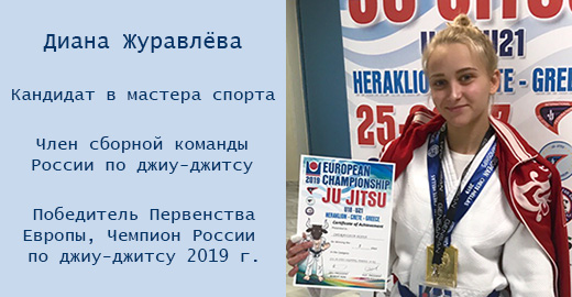 Диана Журавлёва - победитель Первенства мира по джиу-джитсу 2019 г.